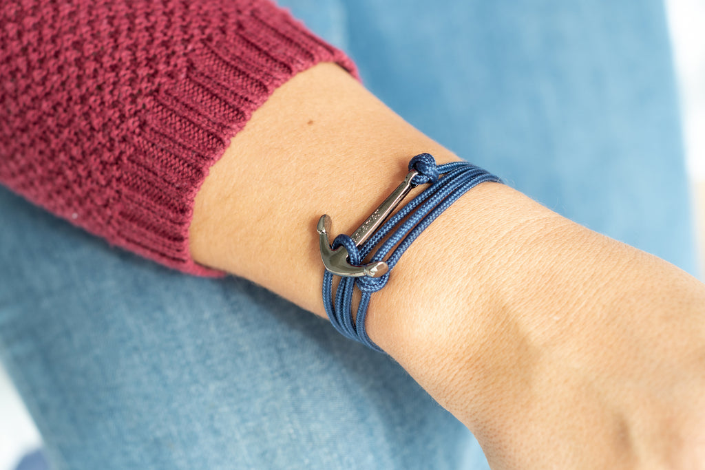 Anchor Bracelet - Navy