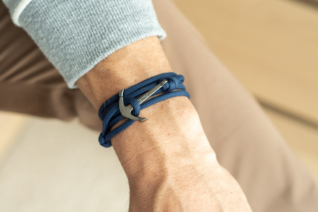 Anchor Bracelet - Navy 4mm