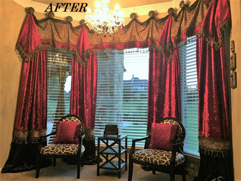 Bay_window_treatment_solutions-drapery_hardware-master_bedroom_curtains-red_and_leopard_print-curtains-velvet_curtains-reilly_chance_collection