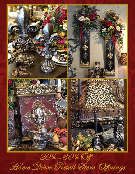 Old_world_style_home_decor_store-decorative_candles-lamps-designer_florals-wall_decor-tuscan_decor-wall_art-table_runners-reilly_chance