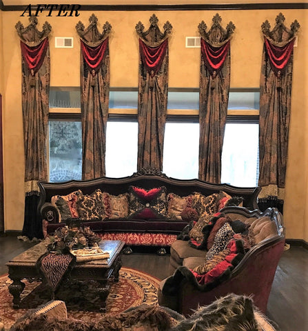 Tall_living_room_window_treatment_ideas-draspery_hardware-swags-old_world_style_window_treatments-gret_room_drapery_panels-reilly_chance_collection