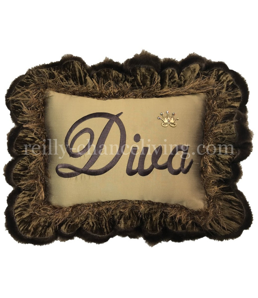 Diva Ruffled Accent Pillow
