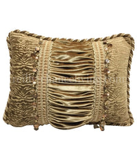 Designer Accent Pillow Champagne Gold Rectangle 17x13
