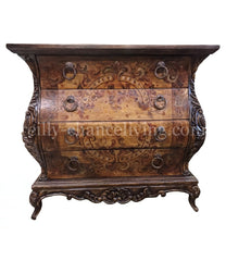 Peruvian Home Furnishings Adelline Hand Painted Wood Chest FREE SHIPPING