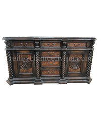 Peruvian Home Furnishings Antigua Hand Painted Wood Buffet FREE SHIPPING