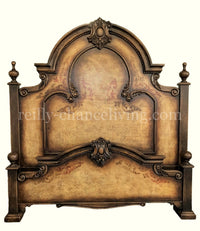 Monticello Peruvian Hand Crafted Wood King Size Bed Tuscany Finish FREE SHIPPING