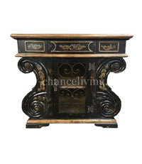 Peruvian Home Furnishings Bolero Hand Painted Wood and Wrought Iron Chest FREE SHIPPING