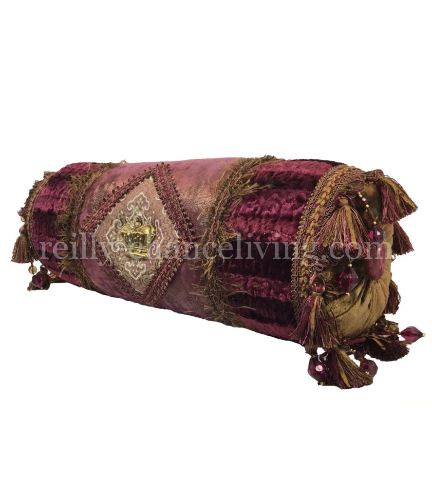 Bolster_pillow-decorative_pillow-raspberry_chenille-fuchsia_pillow-reilly_chance_collection_grande