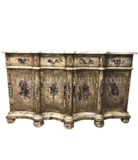 Peruvian Home Furnishings Castile Hand Painted Wood Buffet FREE SHIPPING