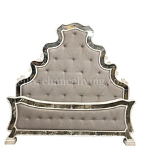 Chagall Peruvian Hand Crafted Wood Upholstered King Size Bed FREE SHIPPING