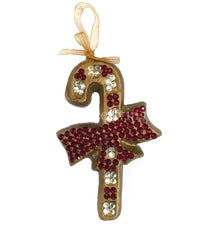 Christmas Ornament Jeweled Candy Cane