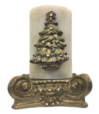 Christmas Candle Swarovski Jeweled Christmas Tree 4x6 with Jeweled Candle Base