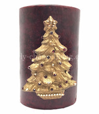 Christmas Candle Swarovski Jeweled Christmas Tree 4x6