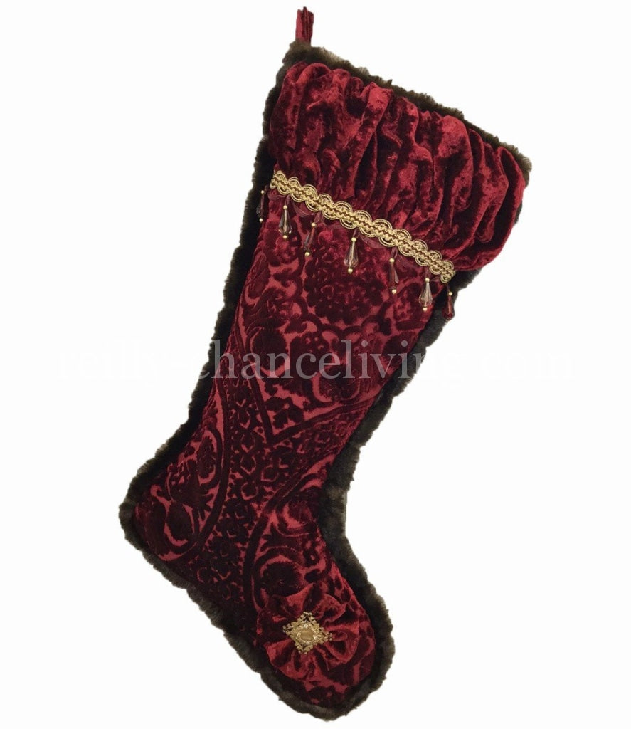 Christmas_stockings-red_velvet-faux_mink-beads-crystals-reilly_chance_collection