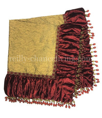 Christmas Table Topper Red and Gold   44x44