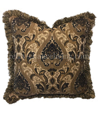 Decorative Pillow-bronze and Black Sofa Pillow 21x21