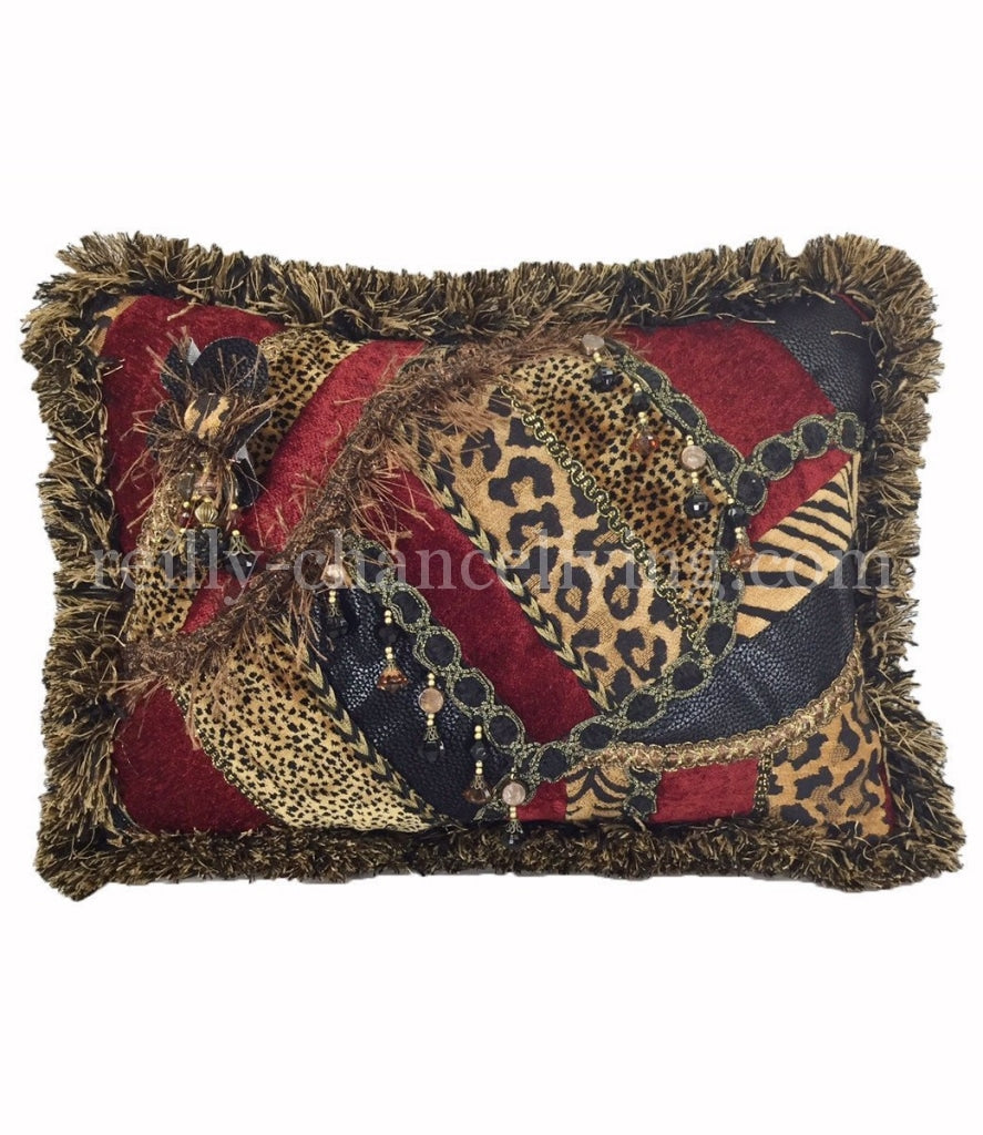 Decorative_accent_pillow-red_chenille-leopard-tiger-pieced-rectangle-beads-reilly_chance_collection_grande