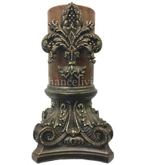 Decorative_candle-6x9_decorative_candle_base-fleur_de_lis_candle-jeweled_candle_and_jeweled_base-old_world_decor-sir_oliver_s_candles-reilly_chance_collection_grande