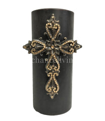 Decorative_candles-4x9_Jeweled_cross_candle-old_world_decor-triple_scented_candles-fancy_candles-reilly_chance