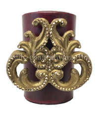 Decorative Candle 4x6 with Regal Scroll