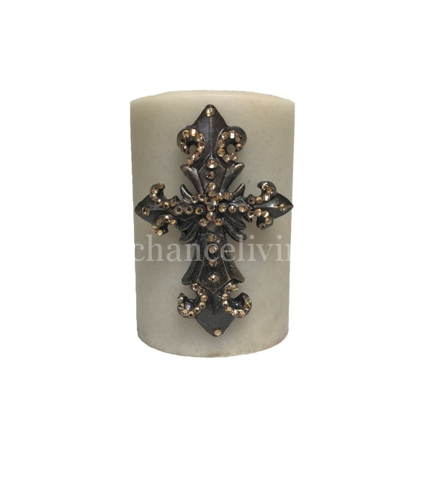 Decorative_candles-jeweled_candles-jeweled_candle-candle_with_cross-triple_scented-sir_oliver's_candles-reilly_chance