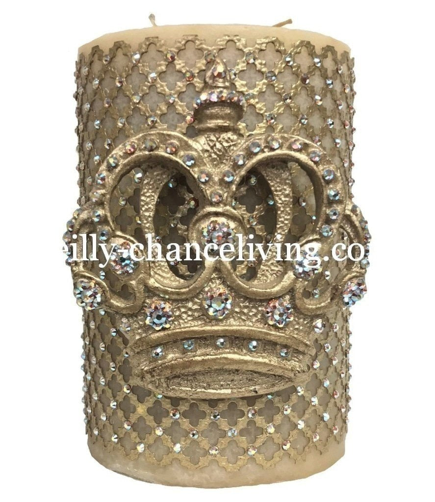 Decorative_candles-old_world_decor-6x9_candles-fancy_candles_huge_candles-Candle_with_crown-candles_with_bling-jeweled_candles-triple_scented_candles-sir_oliver_s_candles-reilly_chance