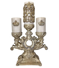 Decorative Candle/Candle Base (2-4x6 candles/Sm. Crown/1-4x9 candle/Firescreen)