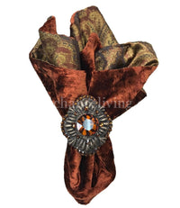 Decorative Napkin Rings Jeweled Medallion