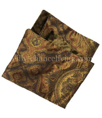 Damask and Bronze Velvet Reversible Napkin