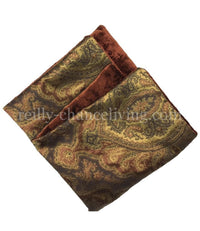 Bronze Damask and Rust Velvet Reversible Napkin