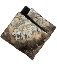 Damask Print Napkin with Velvet