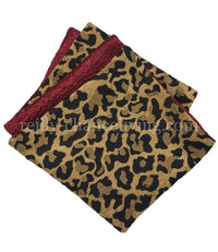 Leopard Print and Red Reversible Napkin
