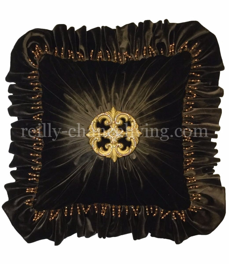 Decorative_pillow-throw_pillow-accent_pillow-dark_chocolate_velvet_pillow-jeweled_pillow-old_world_decor-reilly_chance_collection