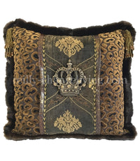 Luxury Accent Pillow Renaissance Jeweled Crown 20x20