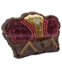 Decorative_pillow-crown-faux_mink-purple_velvet-green_velvet-bling-reilly_chance_collection_grande