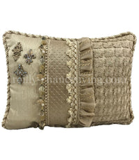 Luxury Neutral Accent Pillow with Jewels 13x17