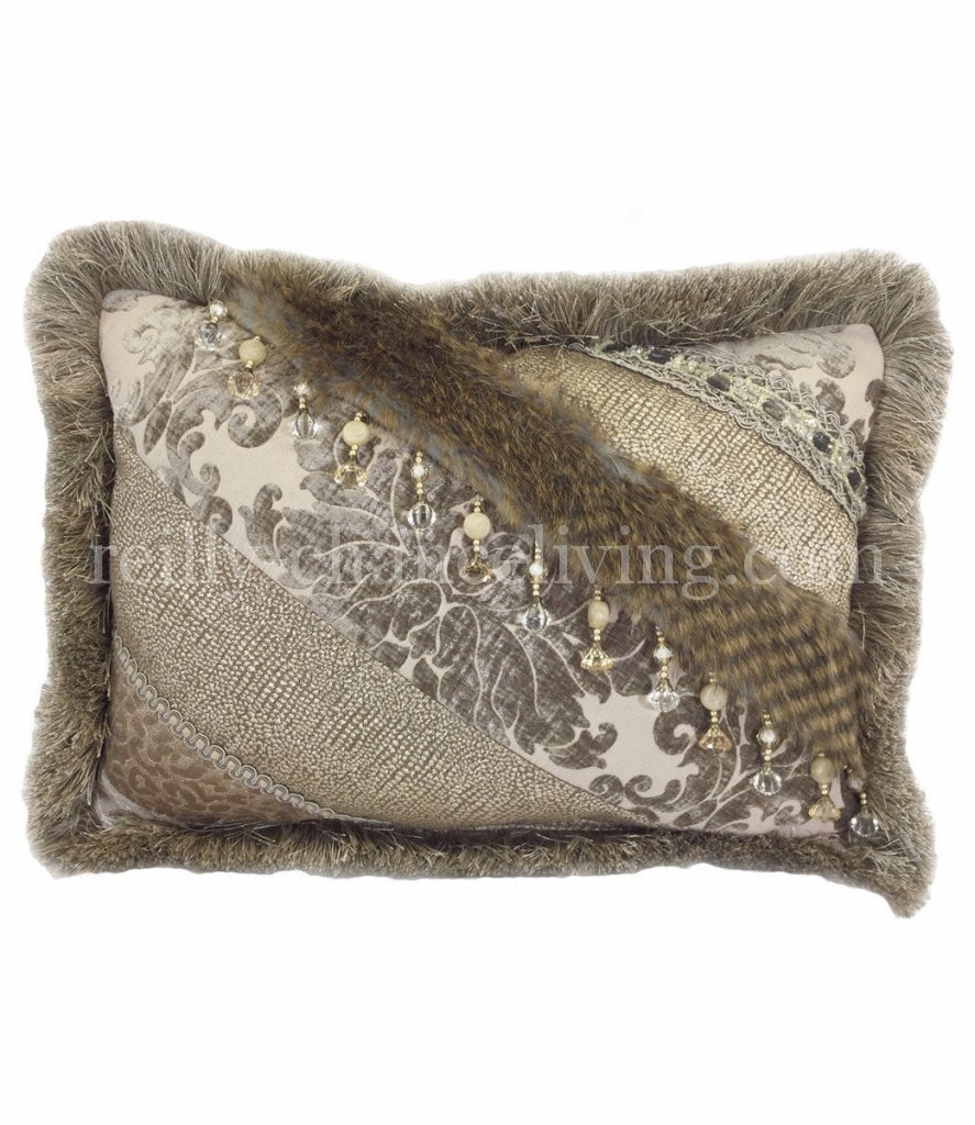 Decorative_pillow-rectangle-pieced-taupe_chenille-grey_gecko-beads-reilly_chance_collection_grande