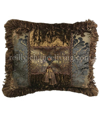 Accent Pillow Bronze Faux Croc