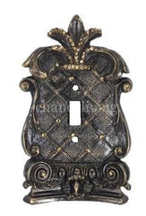 Decorative Single Flip Switch Plate Corinthian with Swarovski Crystals