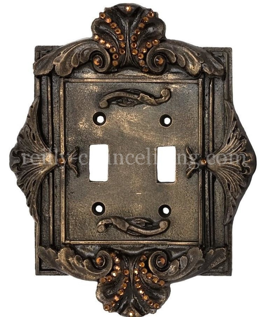 Decorative_switch_plate_covers-swarovski_crystals-double_flip_switch-florentine-sir_olivers-reilly_chance_collection