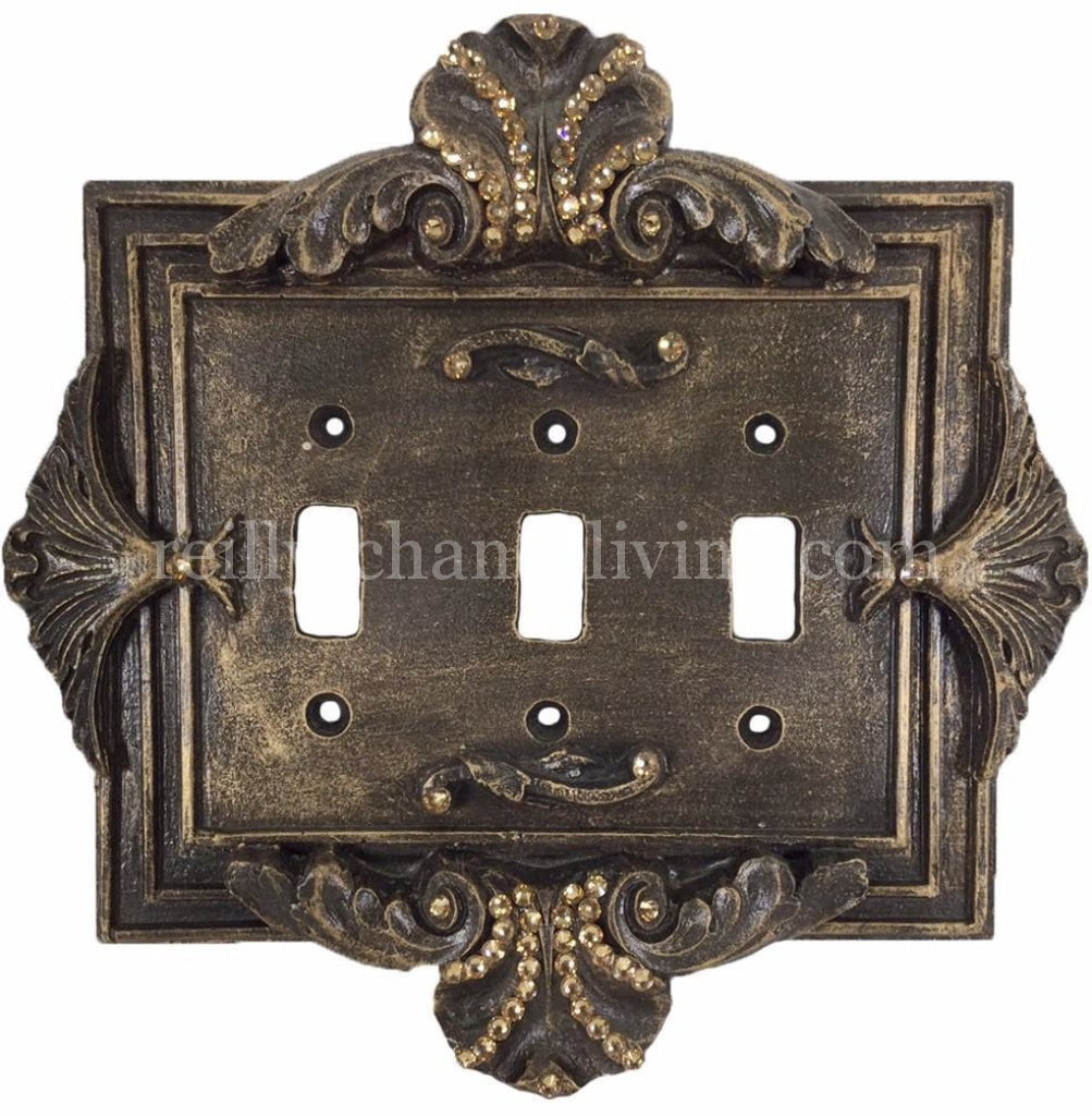 Decorative_switch_plate_covers-swarovski_crystals-florentine-outlet-sir_olivers-reilly_chance_collection
