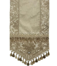 Decorative Neutral Table Runner Exquisite
