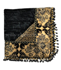 Designer Square Table Topper Bronze and Black 44x44