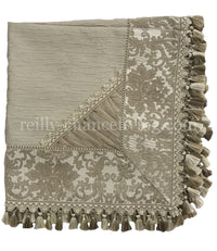 Designer Neutral Square Table Topper Exquisite 44x44
