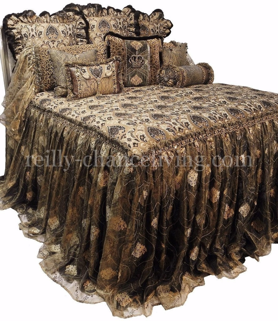 Designer_bedding-luxury_bedding-chenille-velvet-organza-leopard_print-swarovski_crystals-decorative_pillows-faux_mink-reilly_chance_collection