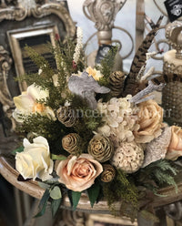 Luxury Designer Faux Floral Arrangements Small Neutral