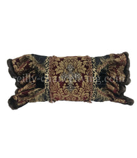 Luxury Accent Pillow with Jeweled Cross