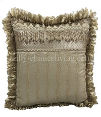 Luxury Neutral Accent Pillow with Beads 18x18