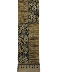 Opulent Table Runner Leopard Print and Silk