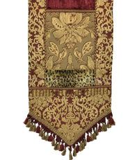 Designer Table Runner Burgundy Gold